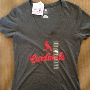 Women's St. Louis Cardinals top with tags size M